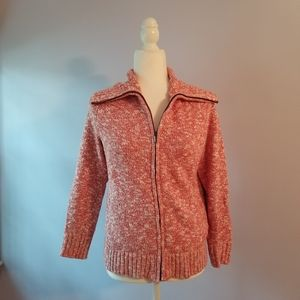 LL BEAN | Cotton Rag Sweater | Marled Pink | Size